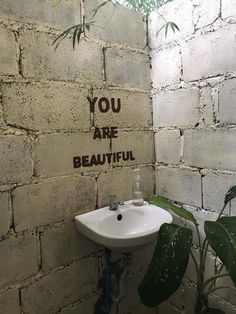 You are beautiful. You are special. Cafe Shop Design, Cafe Interior Design, Deco Restaurant, Foto Art, Mirror Image, You Are Beautiful, Beautiful Smile, Banksy, Wall Collage