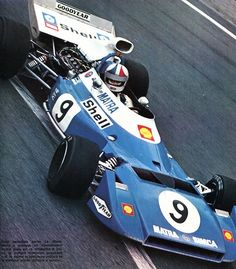Chris Amon - Matra Simca  V12 - Grand Prix de France (Charade) 1972 L'Automobile Août 1972