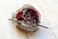 Crocheted Hair Barrette with a large flower  OOAK  Hair by odpaam, $23.90