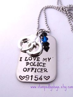 Police I love my  Police Officer Police Officer Necklace Jewelry Police Wife Gift for Police Wife