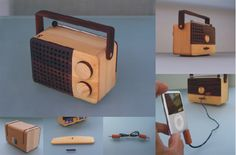 simplify with magno's wooden portable radio