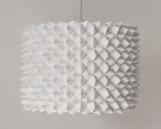 Large Prasada Drum Shade  White Faceted Folded by Zipper8Lighting, $575.00