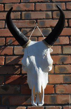 Купить Череп быка - череп быка, череп коровы, череп, роговые чехлы, рог, шаман