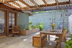 Jesse & Lucas' Simply Stylish Home + Studio — House Tour Wooden Pergola, Diy Pergola, Pergola Kits, Pergola Ideas, Patio Ideas, Small Pergola, Pergola Plans, Backyard Ideas, Garden Ideas