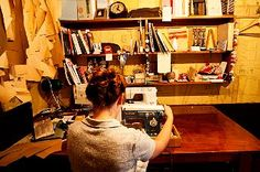 Karlee Slater of the Golden Age, in her shop