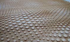 Laser cut dots on wood. Tactile Texture, Dot Texture, Light Texture, Texture Design, 3d Pattern, Surface Pattern, Surface Design, Pattern Design, Textures Patterns