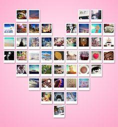 tutorial – polaroid hart vullen met foto's in Photoshop