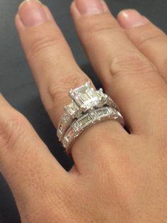 14 carat Diamond and white gold ring