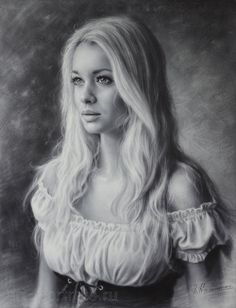 Portrait of beauty girl in a beautiful dress. 2015 by Drawing-Portraits on DeviantArt