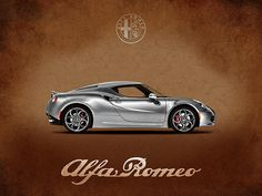 Alfa Romeo 4 C Print By Mark Rogan