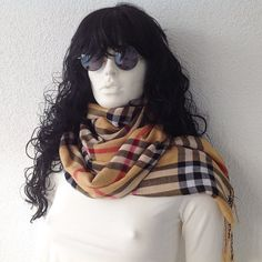 Plaid Pashmina Scarf  Oversize Scarf Women Fashion by fairstore