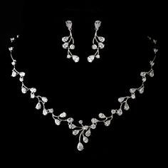 Rhodium Plated CZ Wedding Jewelry Se - a dazzling jewelry set for the bride!  - Affordable Elegance Bridal -