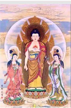Buddhist Teachings, Buddhist Monk, Thing 1, Mahayana Buddhism, Amitabha Buddha, Chinese Wallpaper, Chinese Mythology, Buddha Art, Goddess Art