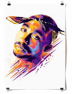 This portrait of Tupac Shakur features in Mink Couteaux's 'Dead Rappers' illustration series It's hard to miss the awesome, vibrant work fr. Big Pun, Tupac Shakur, Meme Comics, Hip Hop Artists, Music Artists, Grumpy Cat, Musik Genre, Arte Do Hip Hop, Tupac Wallpaper