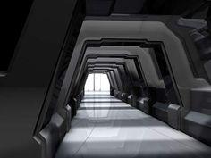 Sci-Fi Hallway by ~COZMONATOR on deviantART