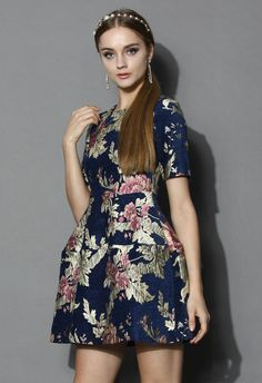 Retro Sweetness Floral Intarsia Dress - Dress - Retro, Indie and Unique Fashion