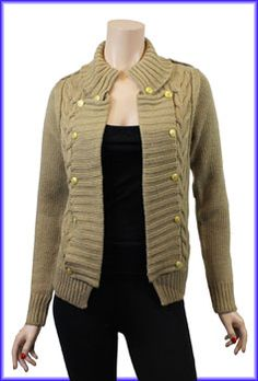 Military Knitted Cardi