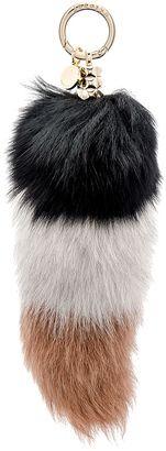 Shop Now - >  https://api.shopstyle.com/action/apiVisitRetailer?id=544183774&pid=uid6996-25233114-59 jocelyn Colorblock Fox Fur Tail Keychain  ...