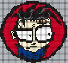 Johnny The Homicidal Maniac (Square) Perler Bead Pattern / Bead Sprite