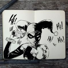 """Artist Gabriel Picolo and the Days of Doodles"""" Project Comic Art, Sketches, Sketch Book, Joker And Harley, Art Drawings, Drawings, Gabriel Picolo, Art, Book Art"""