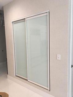 Custom size glass closet doors, AC doors and room dividers. Modern Closet Doors, Glass Closet Doors, Sliding Closet Doors, Sliding Glass Door, Closet Designs, Modern Design, Divider, Mirror, Room