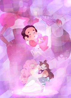 "I have a theory that in ""We Need To Talk"" when Garnet said their fusion attempt worked, Rose became pregnant and that's how Steven was created. Their fusion was internal."