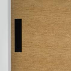 Milos - Flush Pull Handle - 188mm X 42mm - Matte Black (Each) Front Door Handles, Black Door Handles, Black Doors, Matte Black, Bathroom, Washroom, Black Front Doors, Full Bath, Black Door