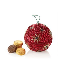 Beaded Holiday Ornament #GODIVA ($25.00)