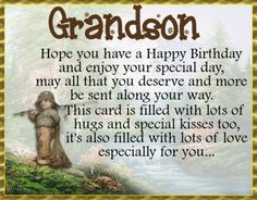 Send birthday wishes to your grandson with this sweet card. Free online Happy Birthday To A Grandson ecards on Birthday Happy Birthday Grandson, Birthday Hug, Birthday Wishes Funny, Birthday Songs, Very Happy Birthday, Birthday Cards, Happy Panda, Colorful Birthday, I Love My Son