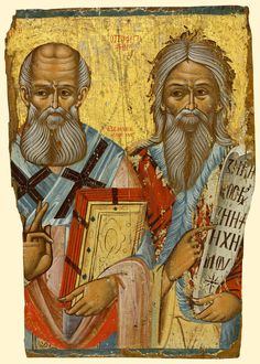 Detailed view: Saint Athanasios and Prophet Elijah- exhibited at the Temple Gallery, specialists in Russian icons Archangel Sandalphon, Sainte Cecile, Greek Icons, Christian Paintings, Paint Icon, Russian Icons, Russian Orthodox, Religious Icons, High Art