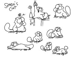 this cat is so funny Simons Cat Doodles