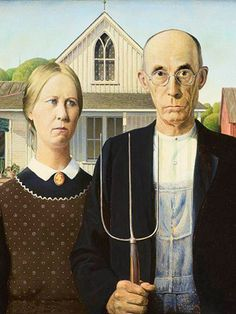 Journey to the American Gothic House in Eldon, Iowa.     http://www.midwestliving.com/travel/destination/iowa/american-gothic-pie-maker/#page=1