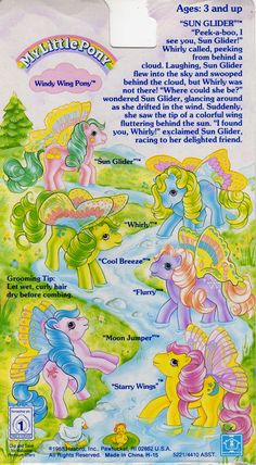My Little Pony Windy Wing Backcard