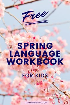 This free printable workbook for kids is perfect for improving their launguage skills this spring. #languageresources #language #learnitalian Learning Italian, Free Printables, Language, Teaching, Spring, Easy, Kids, Young Children, Boys