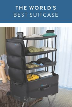 The World's Most Amazing Suitcase- It Has Shelves!