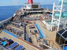 Another view from the top of the ship ~ Carnival Conquest