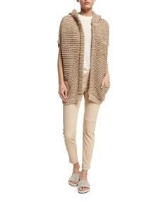 Short-Sleeve Hooded Cardigan, Twine | örgüler | Pinterest ...