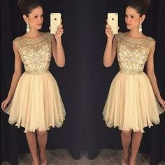 Cute Homecoming Dresses,Sparkly Beaded Homecoming HOCO Dresses,Short Prom sold by lasedress. Shop more products from lasedress on Storenvy, the home of independent small businesses all over the world. Champagne Homecoming Dresses, 2016 Homecoming Dresses, Cute Prom Dresses, Elegant Prom Dresses, Dresses Short, Dresses For Teens, Pretty Dresses, Dresses 2016, Graduation Dresses