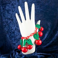 Melody O'Beau Designs: tute: Varnishing Polymer Clay with Rustoleum Varathane ©; also introducing my new shiny Red Dangling Cherries Faux Bakelite Bracelet