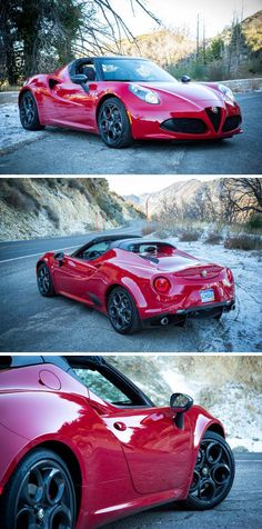 The Alfa Romeo's 4C Spider is one of the best-looking cars on the road today
