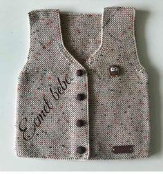 I Örmeyiseviy # knittinglov to siparişalın Örgüaşk der # # # I severkörüy H Baby Knitting Patterns, Baby Patterns, Hand Knitting, Handgemachtes Baby, Baby Vest, Baby Boys, Knit Vest Pattern, Quick Knits, Overall