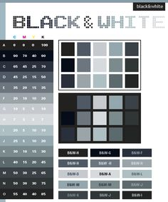 Color Schemes | Black & White color schemes, color combinations, color palettes for ...