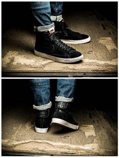 Nike Blazer Mid Premium Vintage: Black