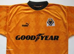 2585ffc41 Wolverhampton Wanderers 1996 1997 1998 training football shirt by Puma  vintage 90s soccer wolves