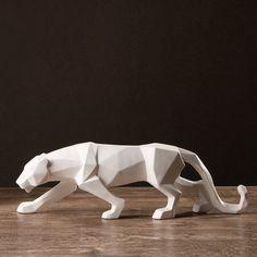 Origami nórdico geometria preto e branco elefante estatueta escultura artesanato criativo casa decorações enfeites de Resina abstrato animal em Estátuas & Esculturas de Casa e jardim no AliExpress.com | Alibaba Group