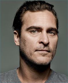 Actor Joaquin Phoenix wears a simple t-shirt by Saint Laurent.