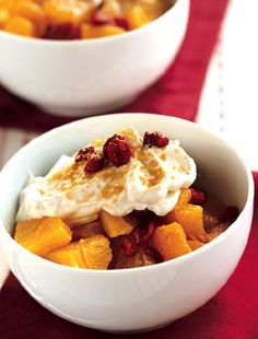 Citrus Salad with Ginger Yogurt from Epicurious.com #myplate #fruit #dairy