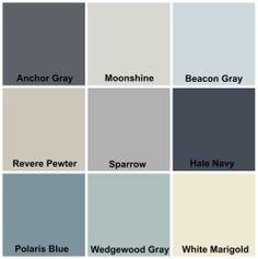 whole house color scheme. valspar (lowes). bleached shadow