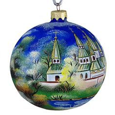 """""""Tranquility"""" Hand Painted Christmas Ball (Made in Ukraine) ** Details can be found by clicking on the image."""