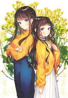 Pixiv ID: gomzi visitanos - ☆Anime/kawaii☆ - Anime Girls, Anime Siblings, Anime Sisters, Kawaii Anime Girl, Anime Art Girl, Manga Art, Pretty Anime Girl, Beautiful Anime Girl, I Love Anime